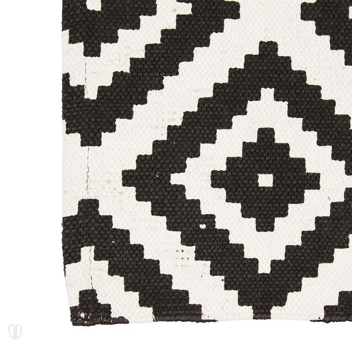 Teppich Geometrische Muster 80 x 120 cm  Läufer, Schwarz
