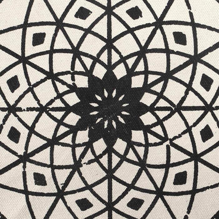 teppich vintage mandala muster 120 cm schwarz beige. Black Bedroom Furniture Sets. Home Design Ideas